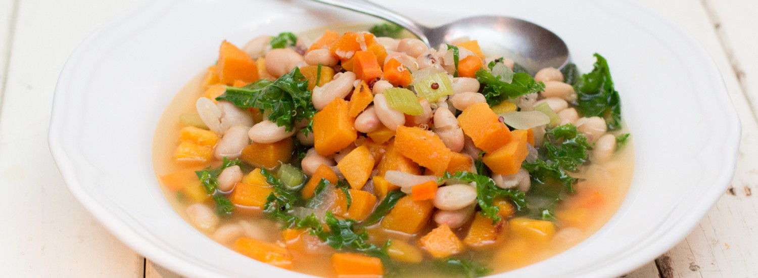 Kale & Roasted Butternut Squash Soup - Jerry James Stone
