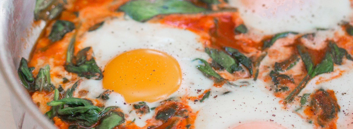 Mexican Baked Eggs with Spinach - Jerry James Stone