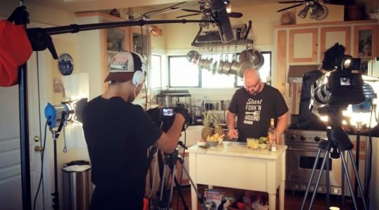 Jerry James Stone Cooking on Camera