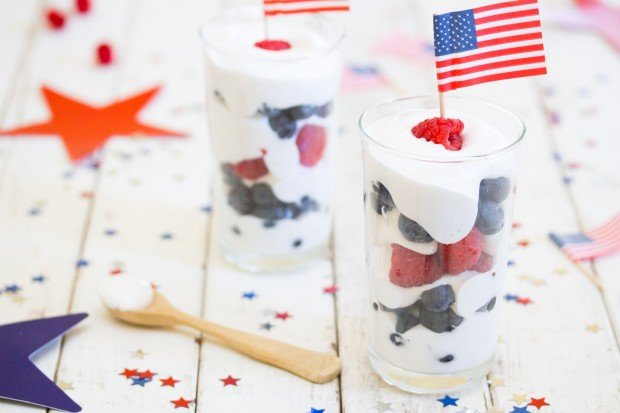 Vegan 4th of July Parfait (with Aquafaba)