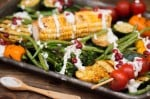 Grilled Veggies with Feta Dressing