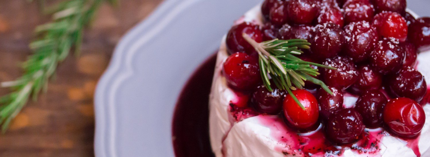 Red Wine Poached Cranberries Warm Brie