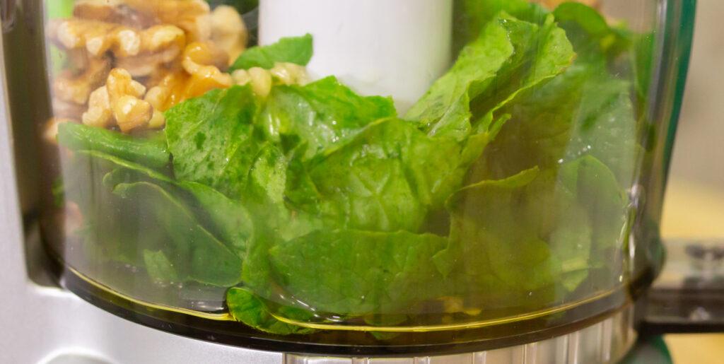 radish green pesto with walnuts