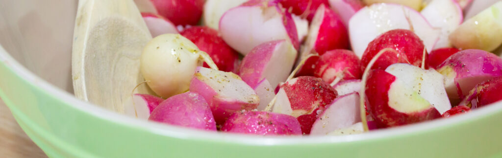 seasoned radishes