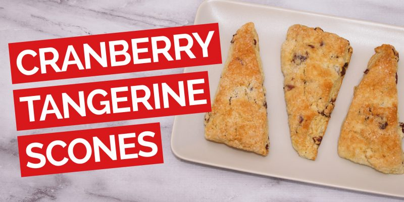 Cranberry & Tangerine Buttermilk Scone Recipe