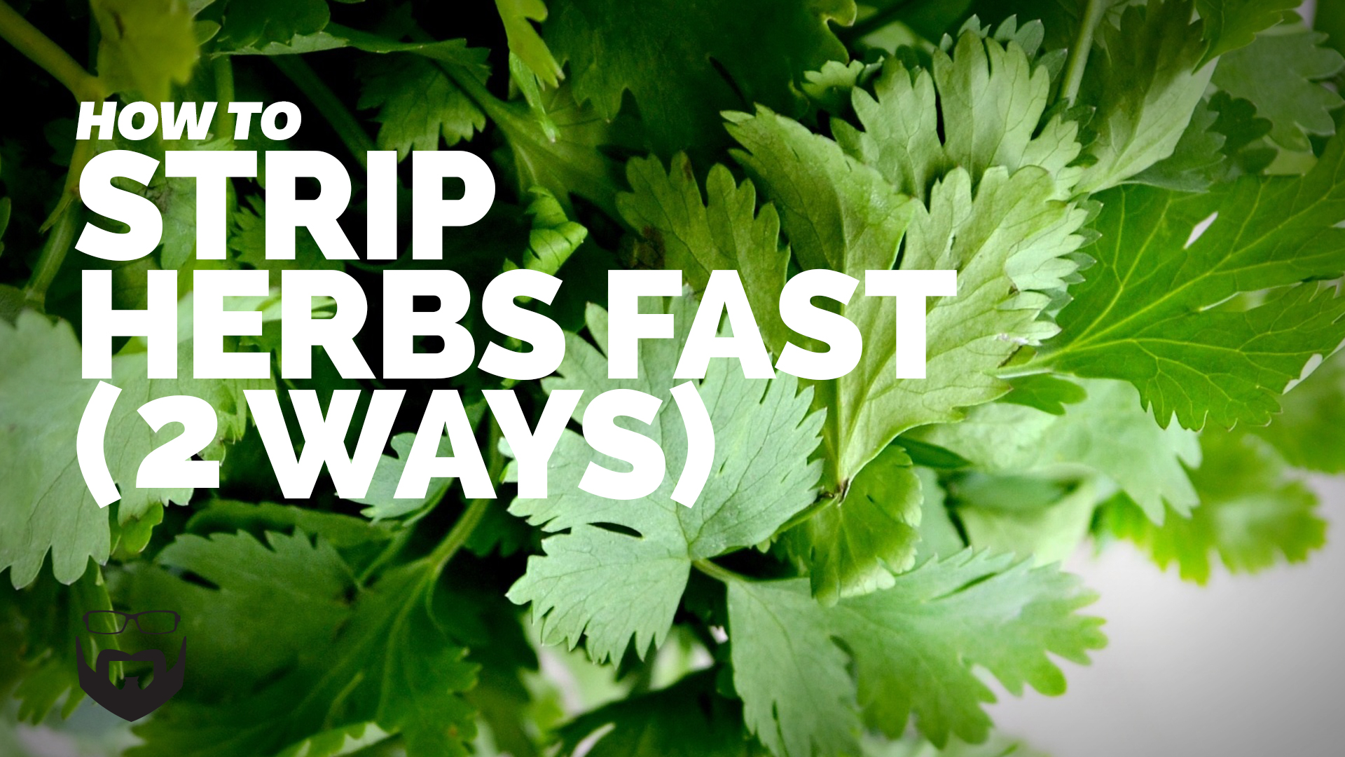 How to Strip Herbs Fast (2 Ways) _VIDEO