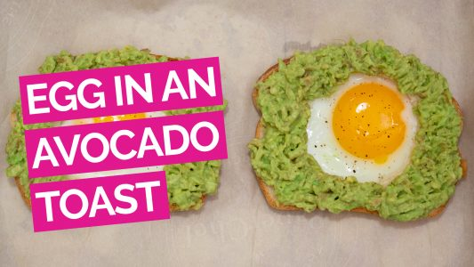 Egg in a Hole Avocado Toast Video
