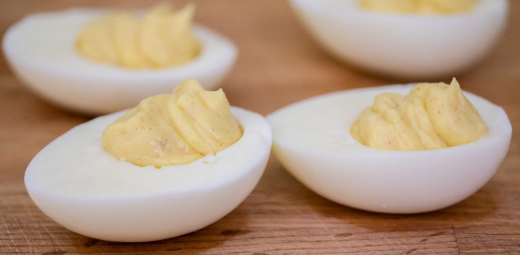 3 Ingredient Deviled Eggs 1