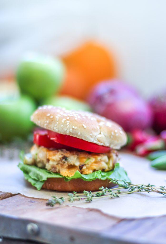 Apple Cheddar Burger 2 1
