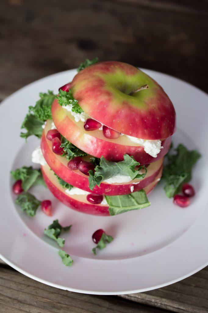 Apple Kale Pomegranate Salad 1 2