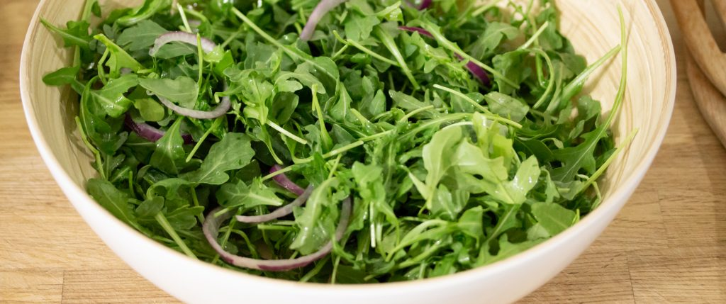 Arugula Red Onions Salad 1