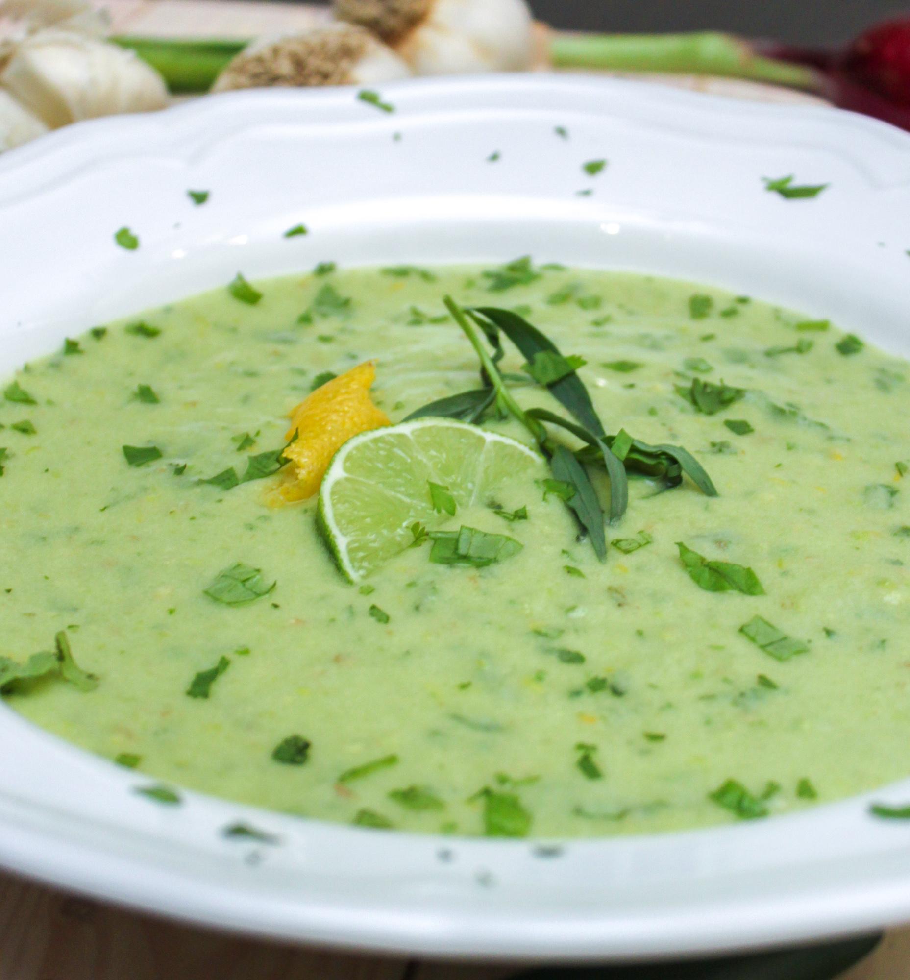 Avocado Gazpacho Soup Feature 1