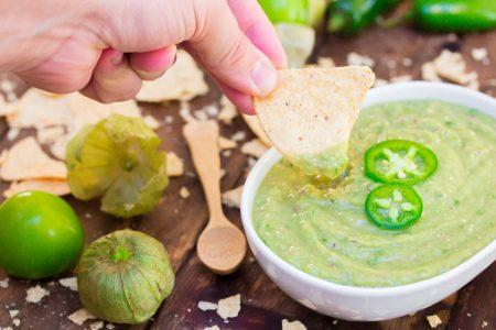 Avocado Tomatillo Salsa Verde 1
