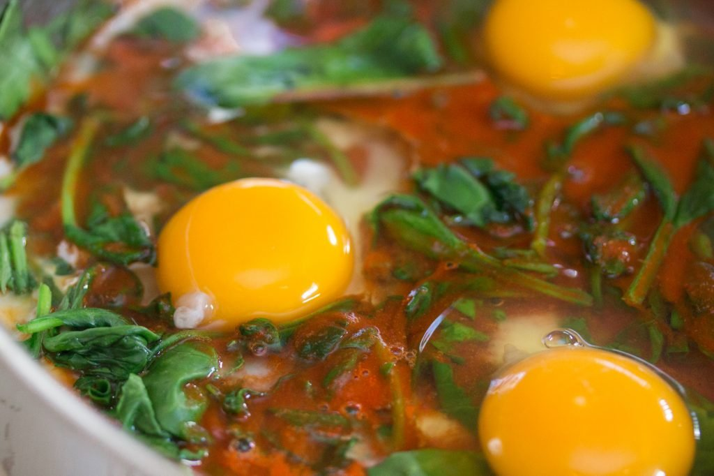 Baked Eggs and Spinach 1