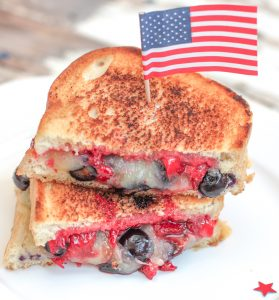 Berries Cheddar Grilled Cheese 2 3