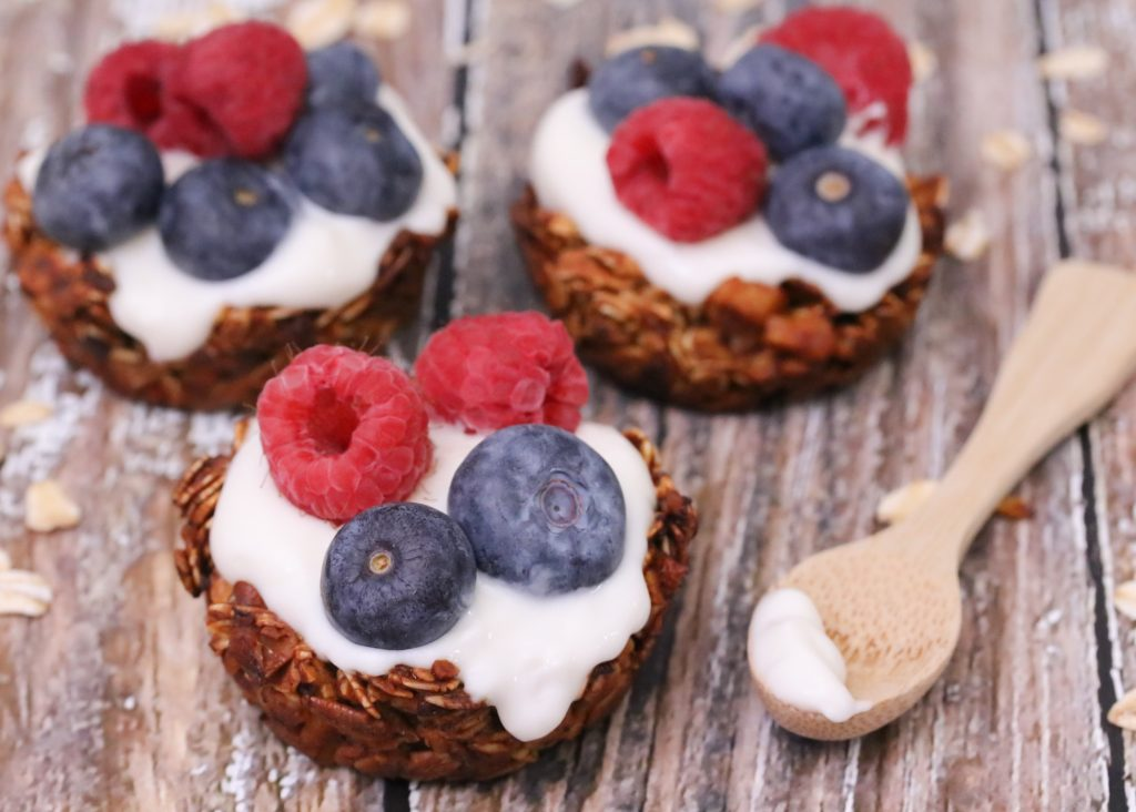 Berry Yogurt Muffin Tin Granola Cups 1