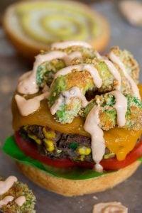 Black Bean Roasted Corn Veggie Burgers Portrait 3