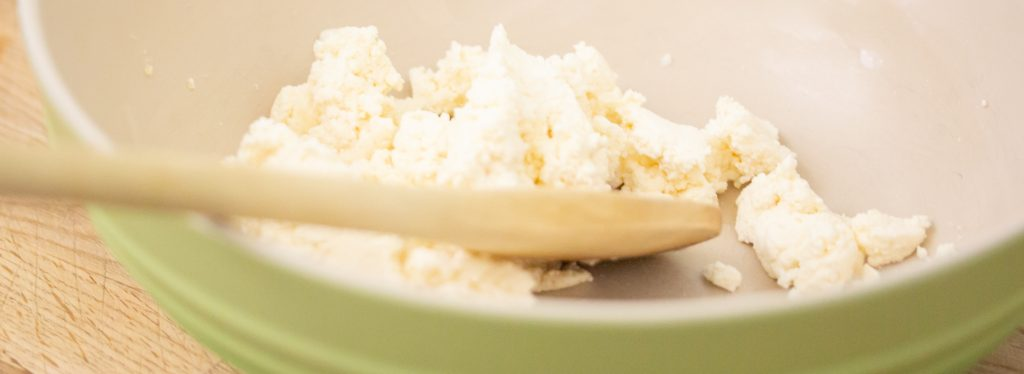 Bowl of Ricotta Cheese and Honey 1