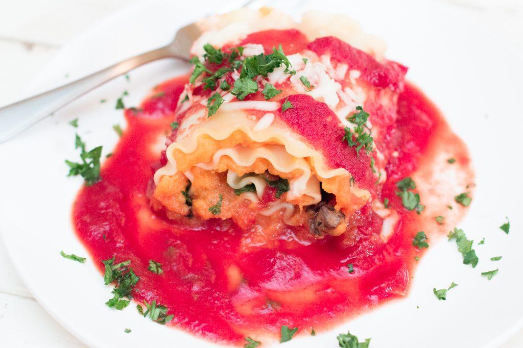 Butternut Squash Lasagna Roll 1