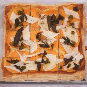 Butternut Squash Tart with Spicy Honey and Sage 1