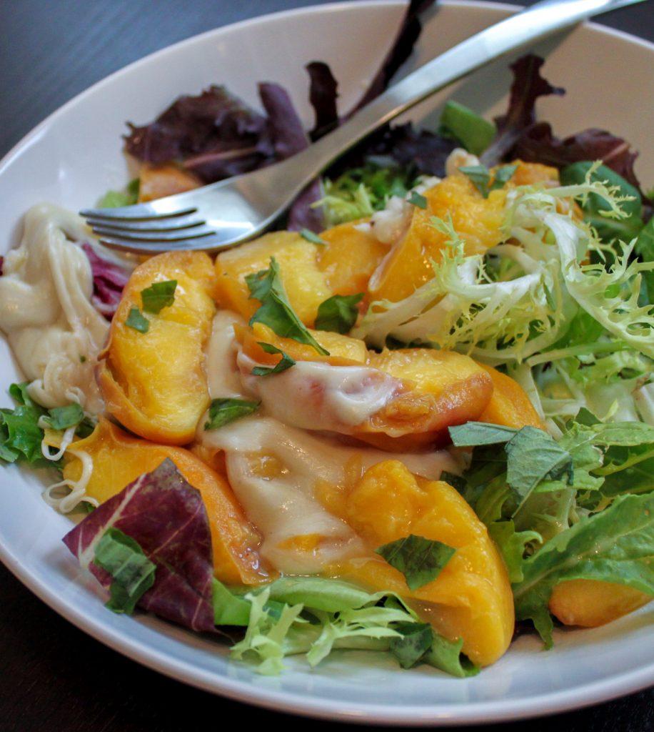 Caprese Salad with Bourbon Peaches Mozzarella Full 2