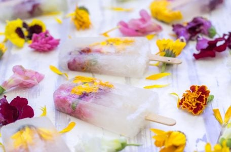 Champagne Flowers Popsicles 1