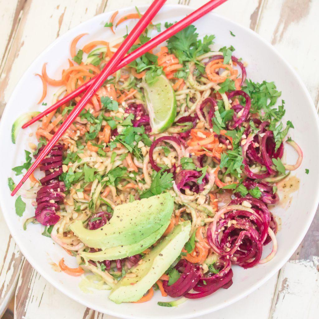 Chilled Thai Veggie Noodle Bowl 2