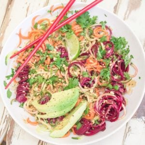 Chilled Thai Veggie Noodle Bowl 3