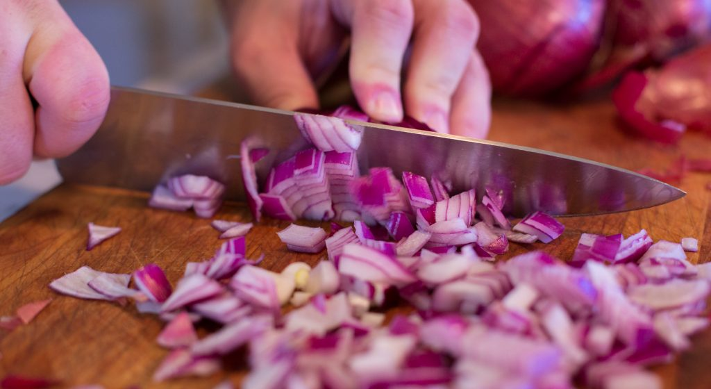 Chopped Red Onion 10