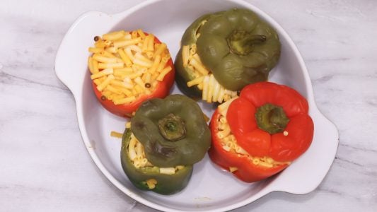 Christmas Stuffed Bell Pepper Recipe Main 1