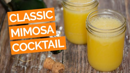 Classic Mimosa Cocktail Recipe video orange