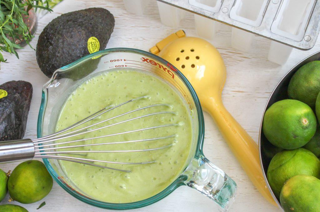 Coconut Avocado Popsicle 1