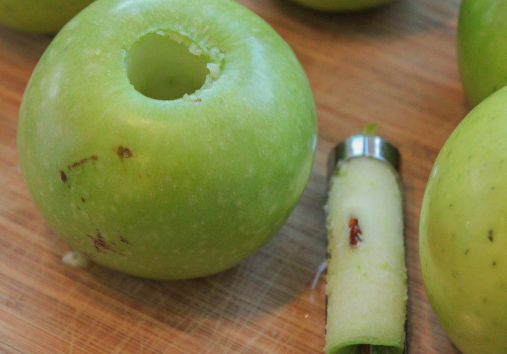 Cored Granny Smith Apple 1