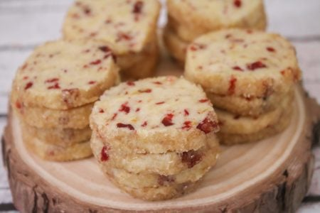 Cranberry Orange Shortbread Cookie Recipe 3