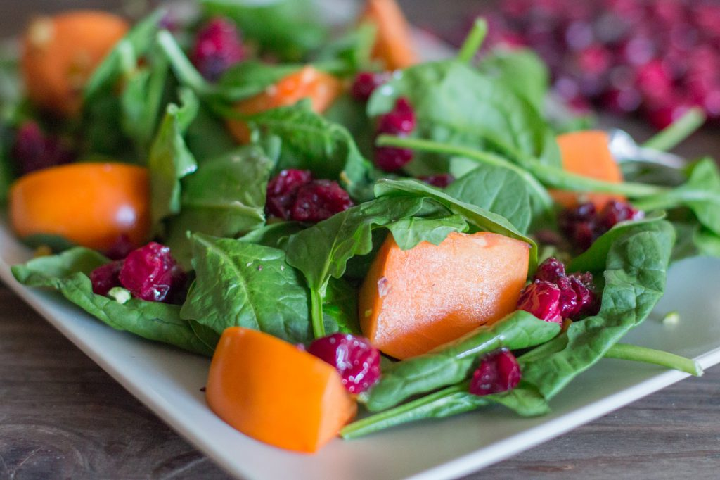 Cranberry Persimmon Salad 1