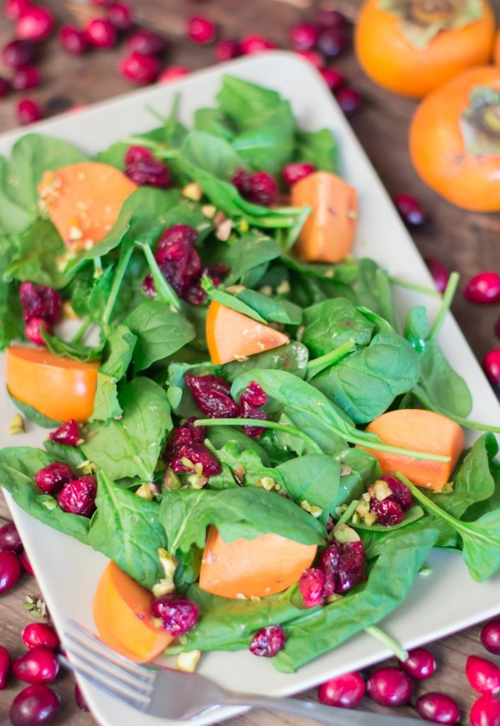 Cranberry Persimmon Spinach Salad 2