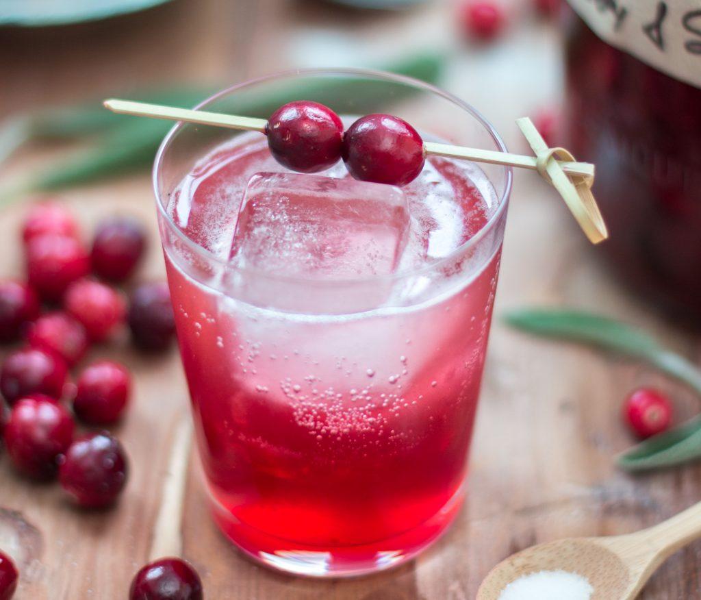 Cranberry Sage Shrub 3