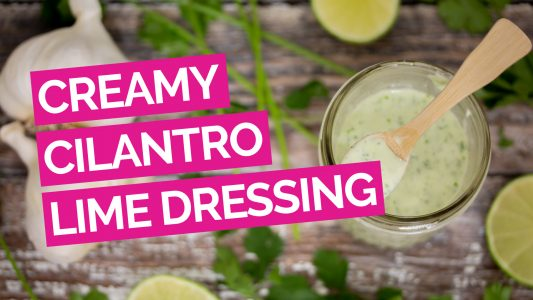 Creamy Cilantro Lime Garlic Salad Dressing video pink
