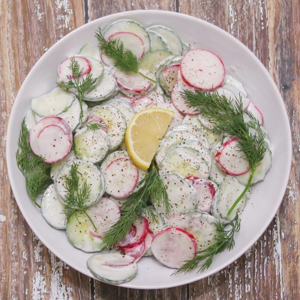 Creamy Cucumber Radish Salad 1