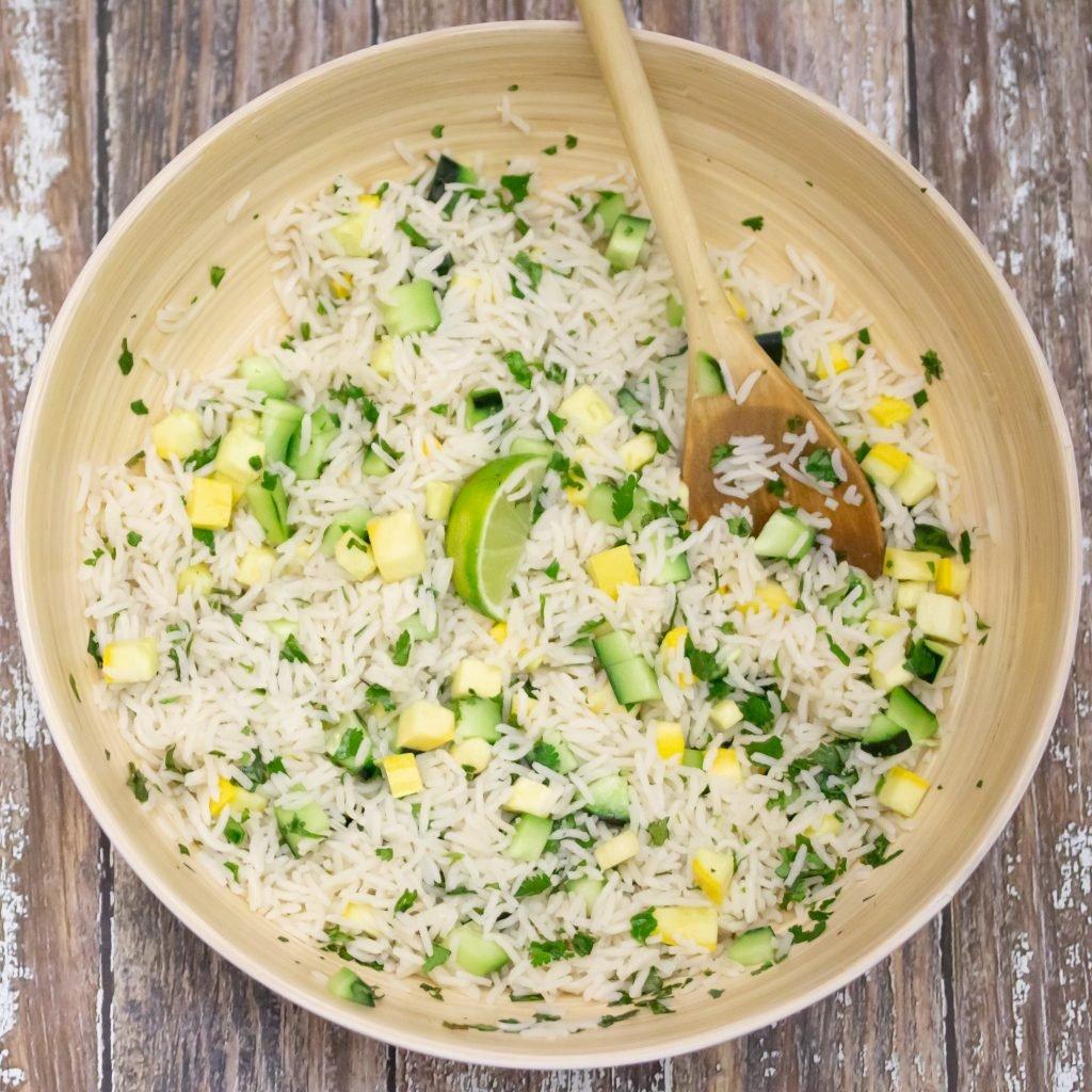 Cucumber Lime Cilantro Rice 1