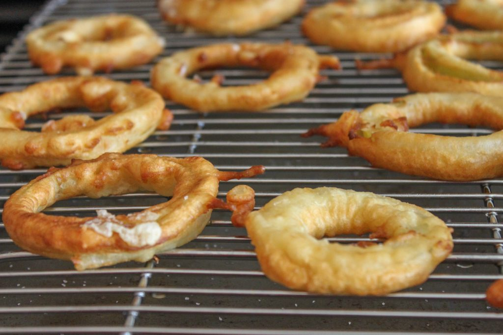 Drying Fried Apple Rings 1