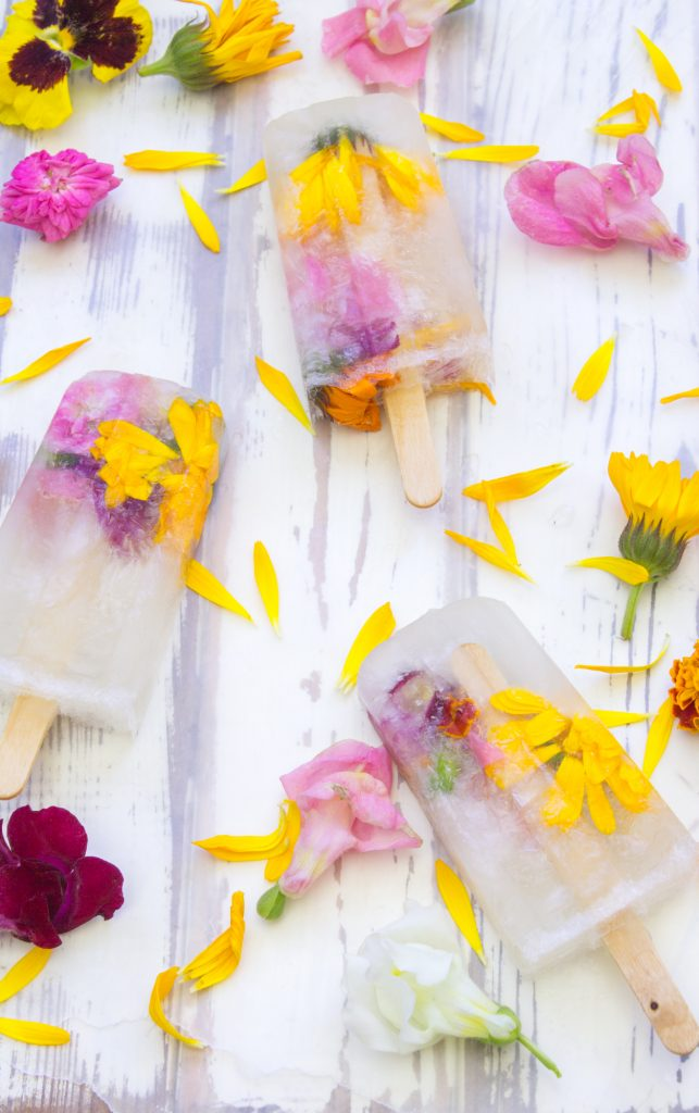 Edible Flower Popsicles 1