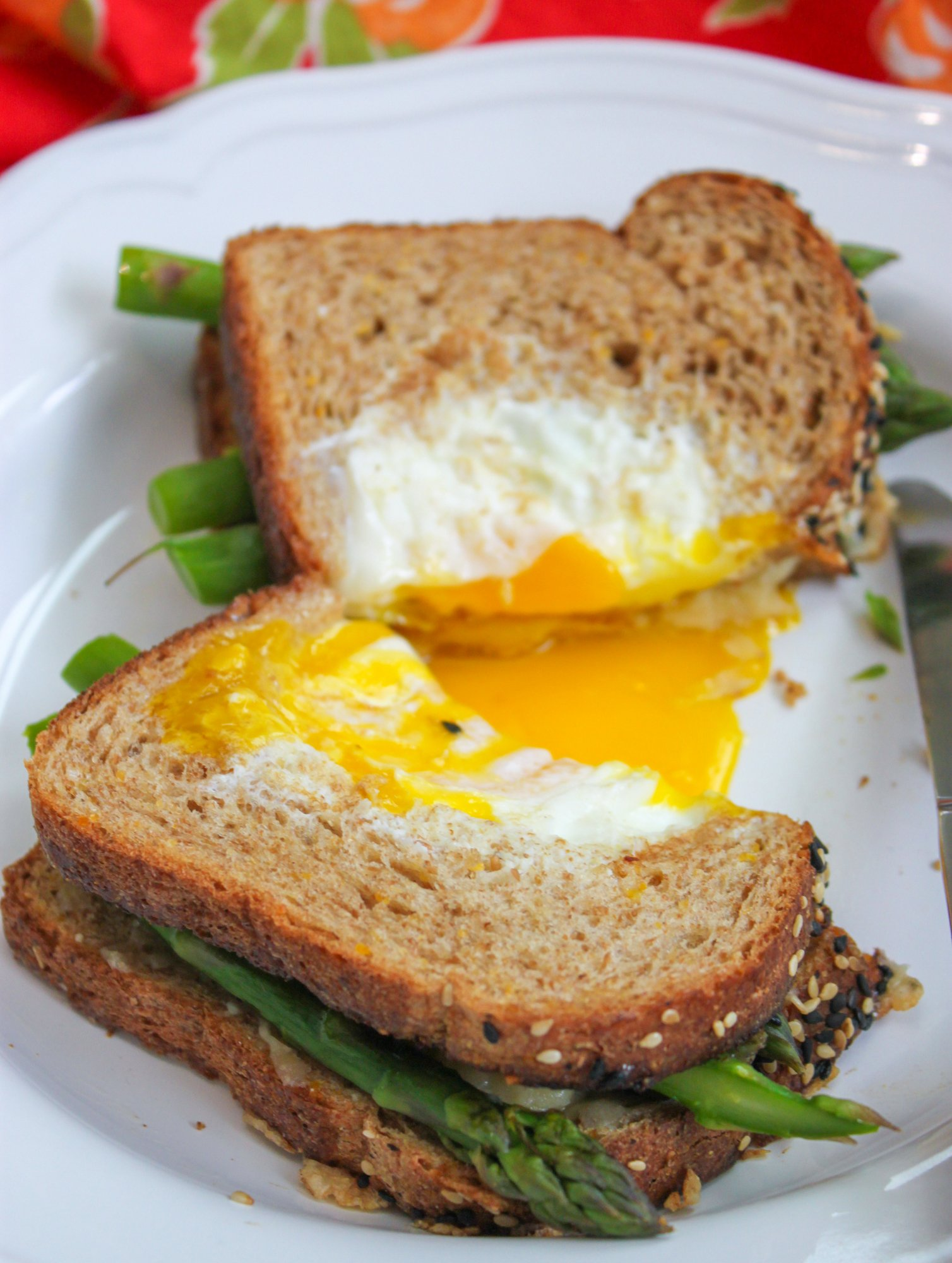 Egg in a Basket Grilled Cheese with Asparagus Full 3