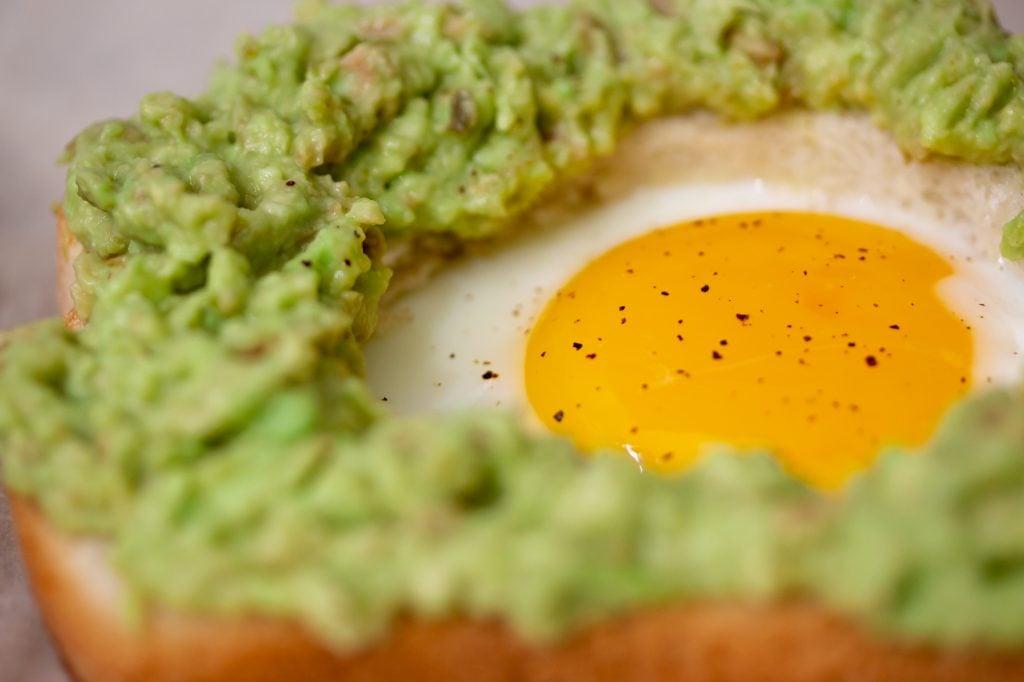 Egg in a Hole Avocado Toast Close Up 1