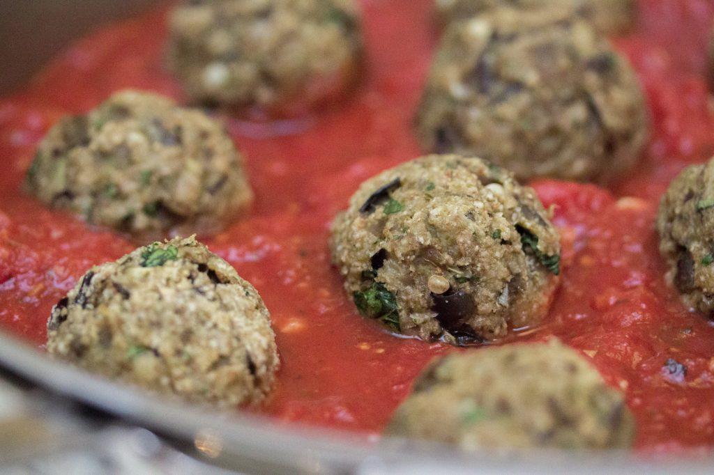 Eggplant Meatballs in Sauce 1