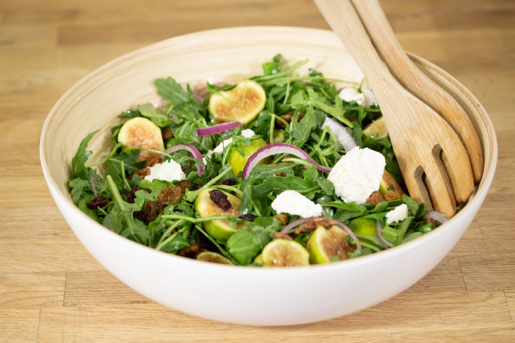 Fig Cranberry Salad with Goat Cheese Image 1