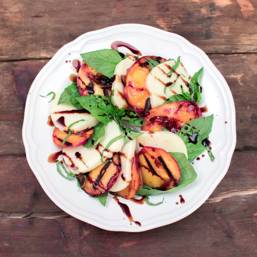 Grilled Peach Caprese Salad 2 2