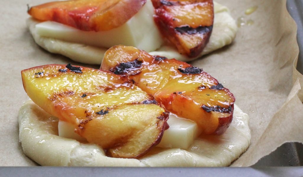 Grilled Peach Pizza 1