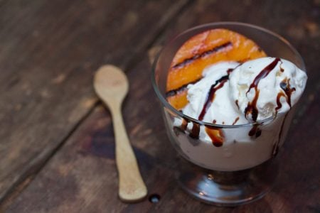Grilled Peaches with Ice Cream Balsamic 21 1