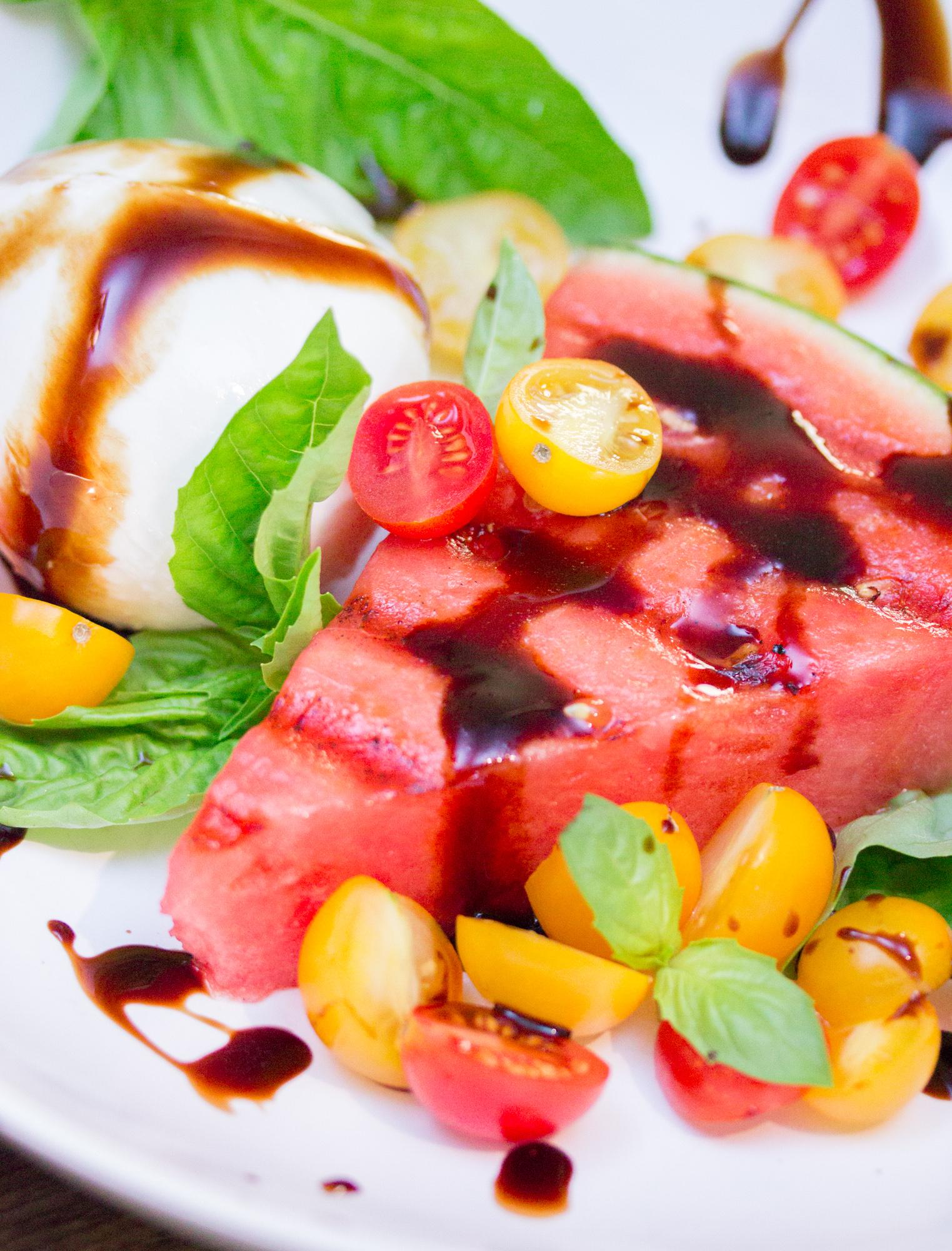 Grilled Watermelon Caprese Salad 1 3